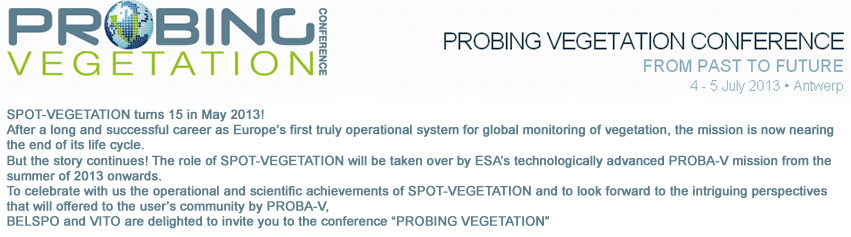 Probing Vegetation conference